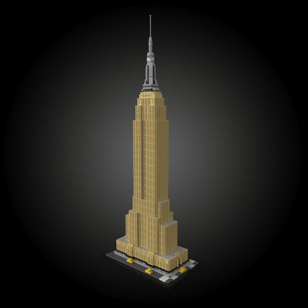 3D empire state building lego