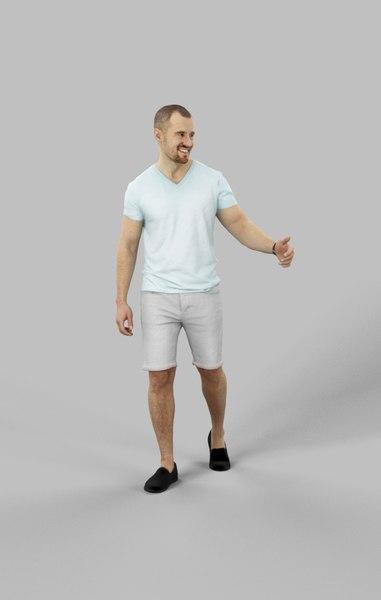 3D model character casual