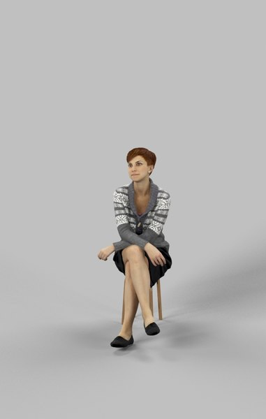 3D character casual model