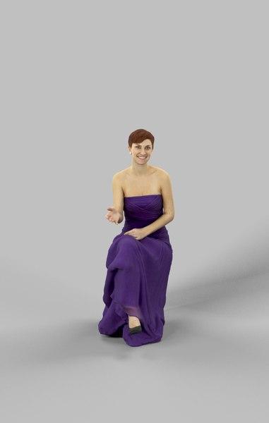 explaining woman caucasian 3D