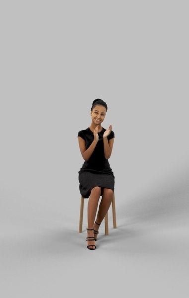 3D smart casual sitting model