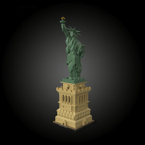 architecture lego 21042 statue liberty 3D model