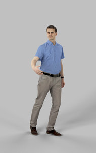 3D midground people casual