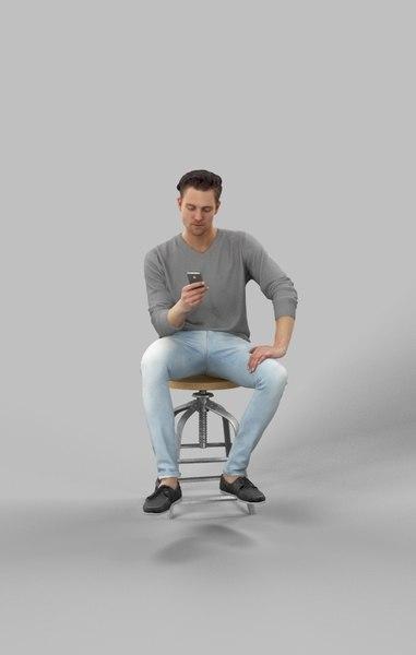 cell phone man 3D