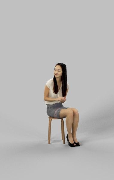 3D paula elegant sitting model