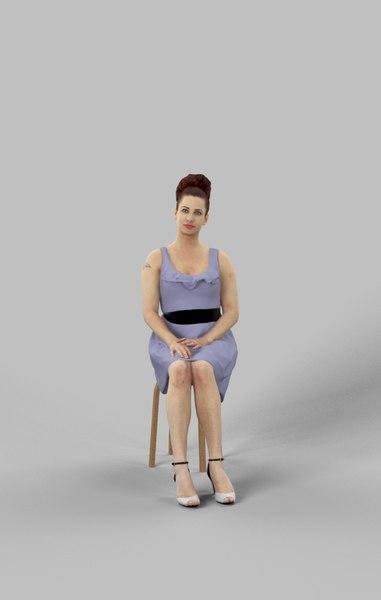 3D yvette fancy dress model
