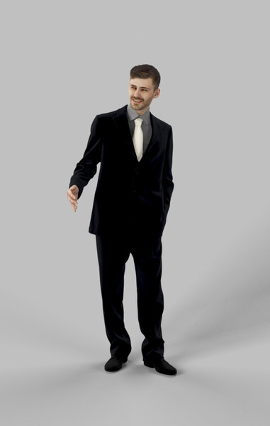 midground character people 3D model