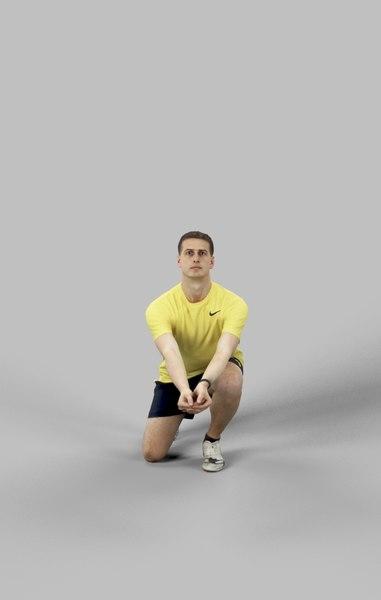 3D model t volleyball sport