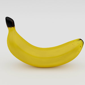 3D banana realistic model