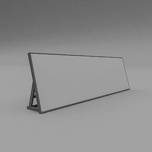3D sign floor