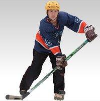 3D hockey player model