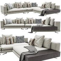white sofa 3D