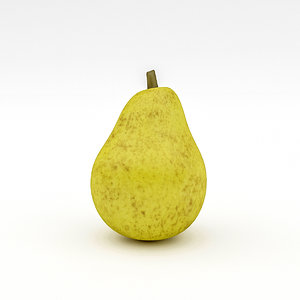 3D pear realistic
