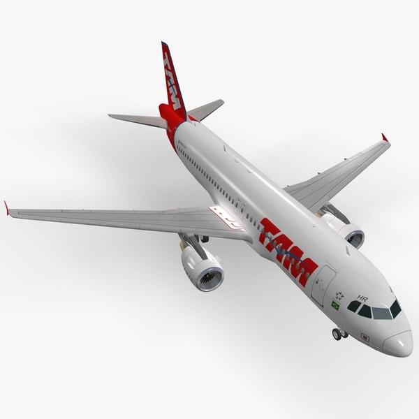 3D airbus a320-214 tam