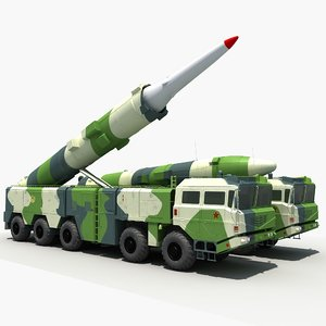 3D model china df-21c ballistic missile
