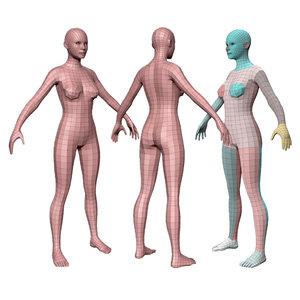 female basemesh 3D