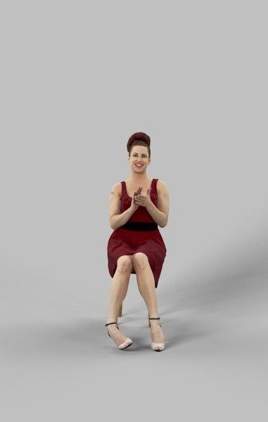 3D yvette dress sitting