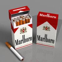 cigarettes box 3D model