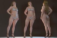 marta female rigged 3D model