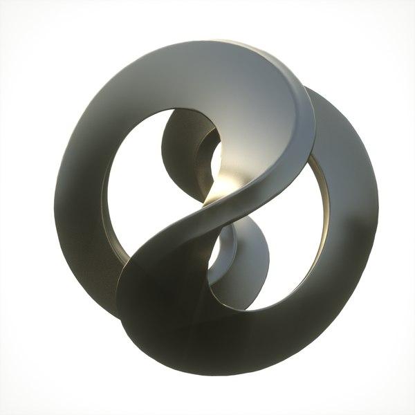 infinity loop abstract 3D model