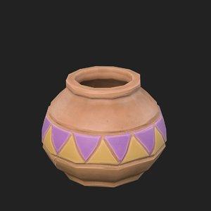3D cartoon jug model