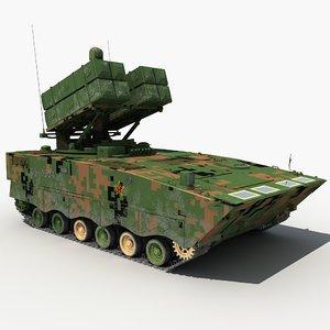 3D china hj-10 anti-tank missile model