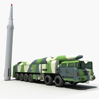 china df-26 ballistic missile 3D model