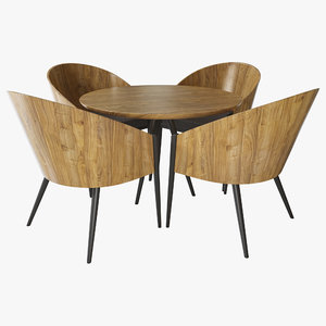 dining table chairs 3D
