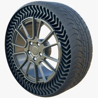 future airless tire michelin 3D