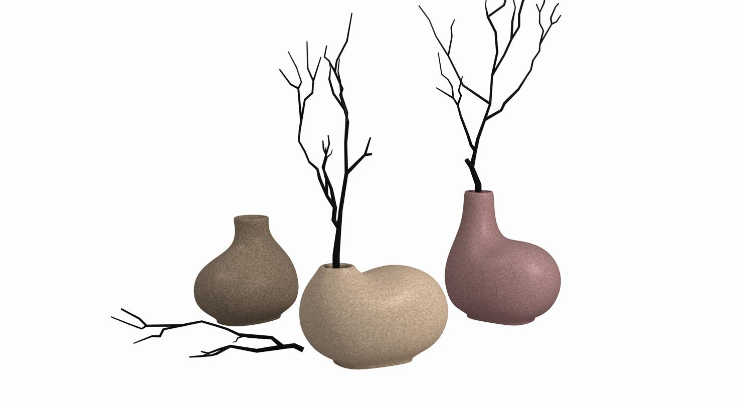 3D simple vase model