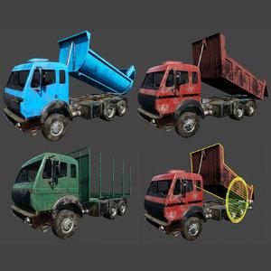 industrial trucks 3D model
