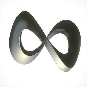3D infinity loop abstract model