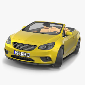 cabriolet generic rigged model