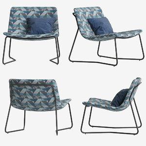 3D armchair lucierne