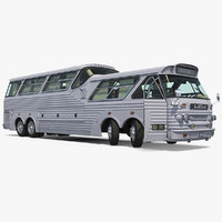 Sultana TM40 1973 Bus Rigged 3D Model