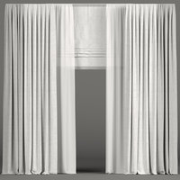 curtains tulle light 3D model