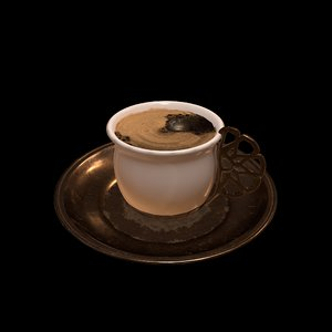 3D model turkish coffee cup rc