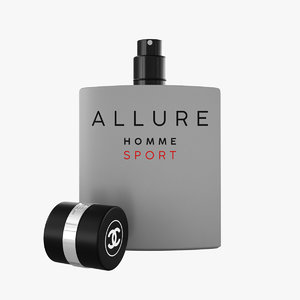 3D chanel allure homme sport model
