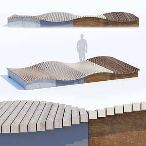 3D mobile surf isles benches model