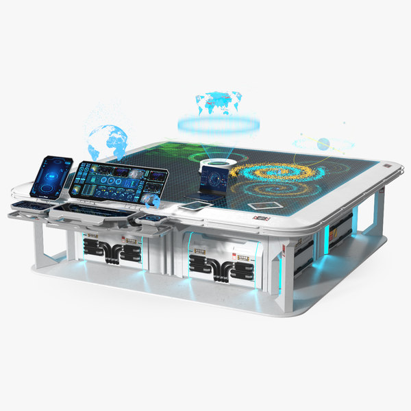 3D interactive holographic table model
