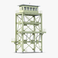 lookout tower cabin 3D