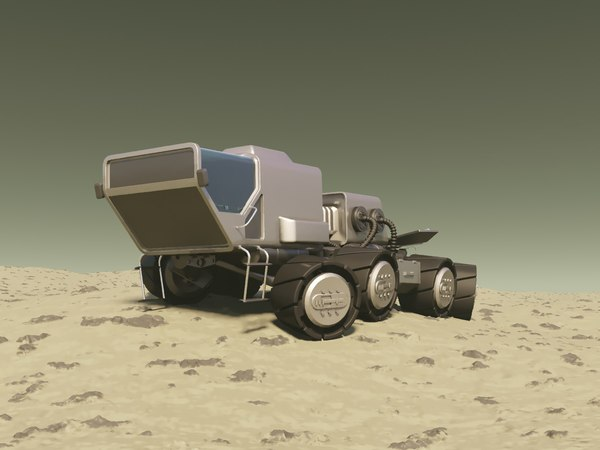 3D mars rover model