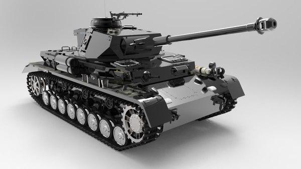panzerkampfwagen iv panzer tank 3D model