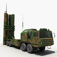 china hq-9 anti-aircraft missiles 3D