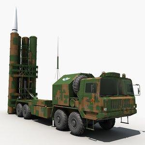 china hq-9 anti-aircraft missiles 3D