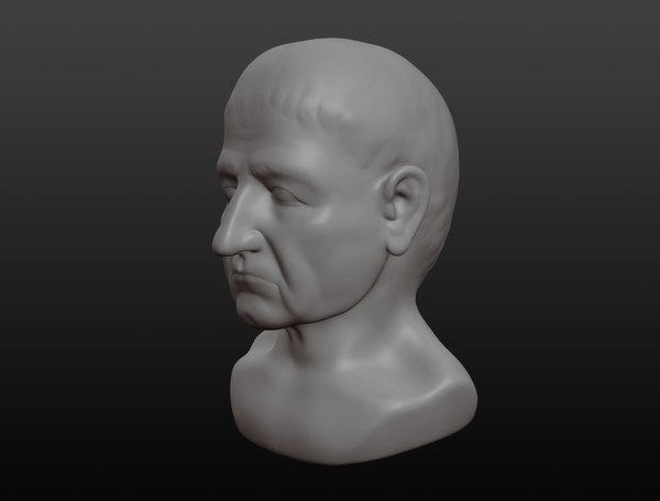 3D aristotle bust model