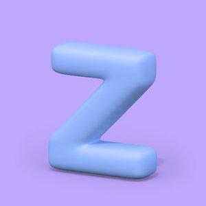 3D font letters model