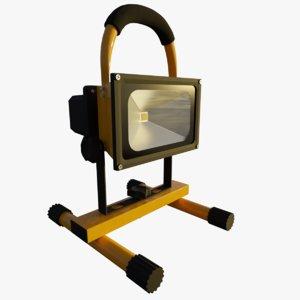 lamp flood 3D model