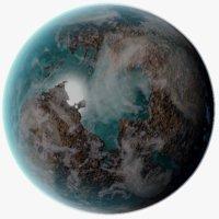 3D model exoplanet 1
