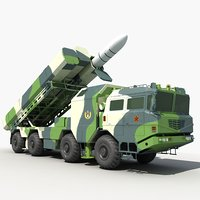 china cj-10 cruise missile 3D model
